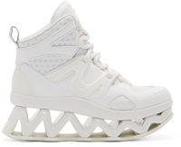 Marc By Marc Jacobs White Cut Out Platform Ninja Sneakers