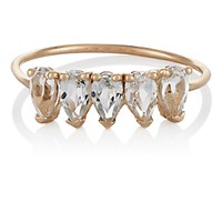 Loren Stewart Women's White Topaz Ring No Color