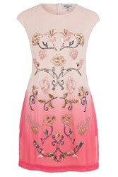 Wolf And Whistle Dip Dye Beaded Dress Pink