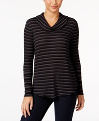 Styleandco. Style Co. Striped Cowl Neck Top Only At Macy's Stripe Black