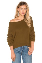 J.O.A. Long Sleeve Pullover Sweater Green