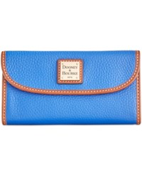 Dooney And Bourke Pebble Continental Clutch French Blue
