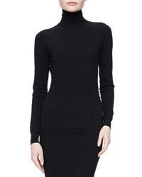Michael Kors Long Sleeve Turtleneck Sweater Black
