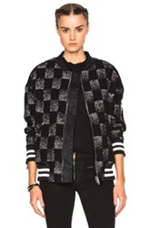 Adaptation Reversible Check Bomber In Black Checkered And Plaid Black Checkered And Plaid
