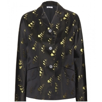 Miu Miu Embroidered Silk Jacket Giallo