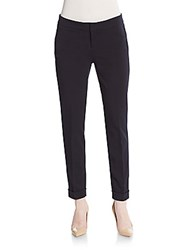 Saks Fifth Avenue Black Cuffed Ankle Pants Navy