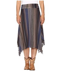 Stetson Stripe Long Sweater Skirt Blue Women's Skirt