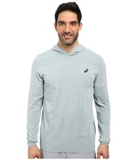 Asics Lightweight Fleece Hoodie Arona Heather Men's Sweatshirt Gray