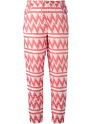 Ter Et Bantine Zigzag Patterned Trousers Pink And Purple