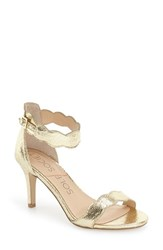 Sole Society Women's 'Pia' Ankle Strap Sandal Crackled Gold
