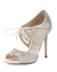 Rene Caovilla Crystal Embellished Two Piece 105Mm Pump White