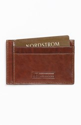 Men's Trafalgar 'Cortina' Card Case Brown Honey Maple