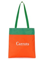 Carrots By Anwar Carrots Embroidered Canvas Tote Orange