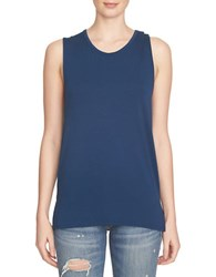 1.State Open Back Tank Military Navy
