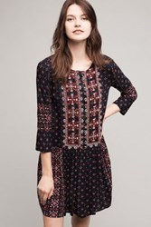 Anthropologie Kaleidoscope Shirtdress Black