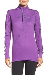 Helly Hansen Women's H H Active Flow Graphic Pullover Sunburned Purple