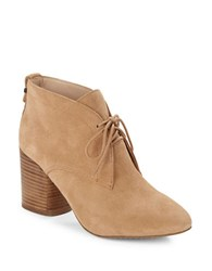 French Connection Dinah Suede Ankle Booties Indian Tan