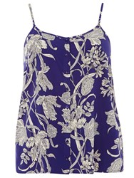 Dorothy Perkins Floral Button Camisole Top Blue