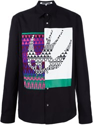 Mcq By Alexander Mcqueen Swallow Applique Shirt Black