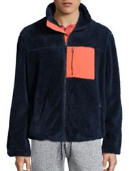 Surfside Supply Sherpa Colorblock Jacket Navy