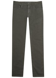 Dolce And Gabbana Dark Grey Slim Leg Cotton Chinos