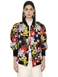 Marni Floral Printed Quilted Bomber Jacket