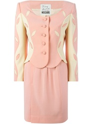 Moschino Vintage Skirt And Blazer Suit Pink And Purple