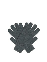 Paul Smith Cashmere Knit Gloves Grey