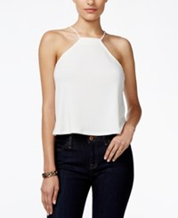 Guess Nadia Halter Crop Top Macadamia