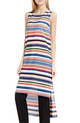Vince Camuto Women's 'Escape Stripe' Sleeveless High Low Tunic