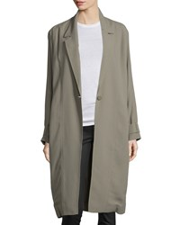 Jason Wu One Button Long Trenchcoat Army Women's