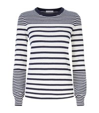 Equipment Shane Crew Neck Stripe Sweater Female Blue