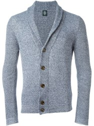 Eleventy Shawl Collar Cardigan Blue
