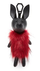 Kendall Kylie Norman Faux Fur Charm Black Ruby Red