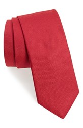 Ted Baker Men's London Solid Woven Silk Tie Red