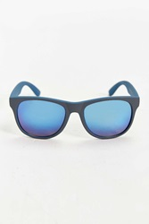Urban Outfitters Rubberized Matte Blue Square Sunglasses