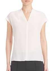 Escada Silk Cap Sleeve Blouse Blanco