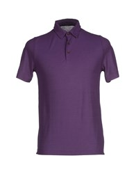 Zanone Topwear Polo Shirts Men Mauve