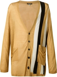Ann Demeulemeester Oversized Stripes Cardigan Yellow And Orange