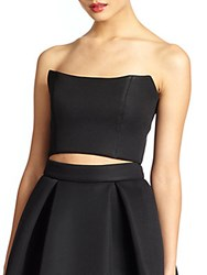 Nicholas Structured Pique Bustier Black