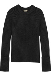 Michael Kors Ribbed Cashmere Blend Sweater