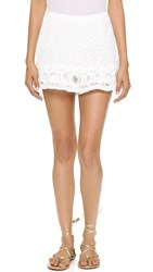 English Factory Lace Shorts Off White