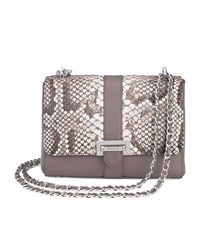 Aspinal Of London Snake Print Lottie Bag Unisex Grey