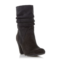 Head Over Heels Rhoda Ruched Dressy Boots Black