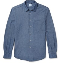 Aspesi Slim Fit Cotton Shirt Blue