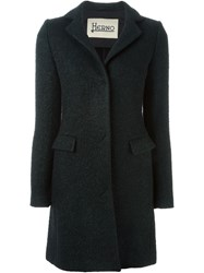 Herno Single Breasted Short Coat Black