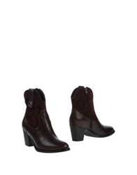 Fabio Rusconi Ankle Boots Deep Purple