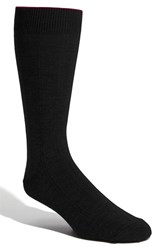Men's Nordstrom Rib Wool Blend Socks Black