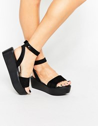 Asos Talia Wedge Sandals Black