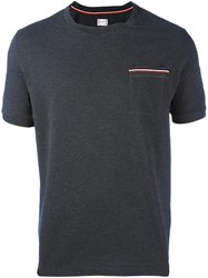 Moncler Gamme Bleu Arm Logo Patch T Shirt Grey